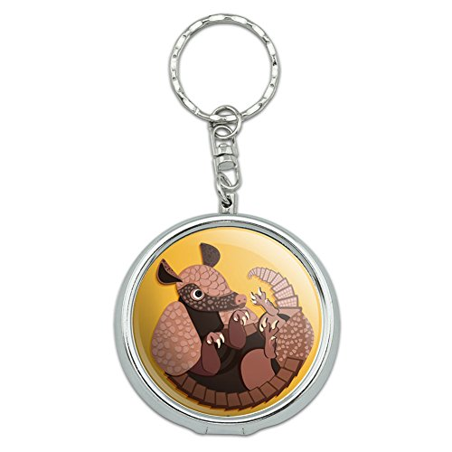 portable-travel-size-pocket-purse-ashtray-keychain-with-cigarette-holder-animals-armadillo