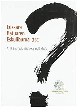 Euskera Batuaren Eskuliburua por None epub