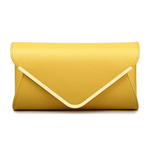 Main Pochette Enveloppe Nuptiale Sac Sac Mesdames Sac à Bandoulière De Mariage Sac De à Yellow Soirée 5PwqWdU