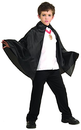 Rubies 30-Inch Black Fabric Cape - Succubus Halloween Costumes