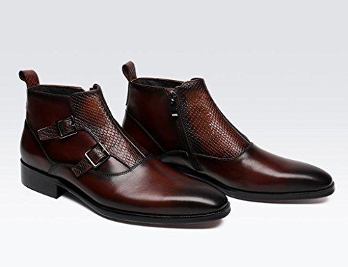 55cdf182f165 ... Herren Lederschuhe Herren Lederschuhe High-Top-Schuhe britischen Stil  wies kurze Martin Stiefel Herrenschuhe ...