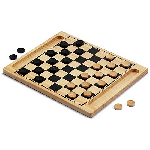 checkers board game wooden - 3