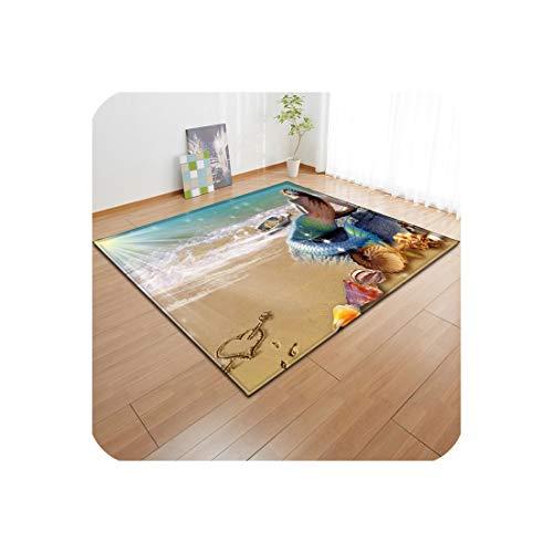 3D Non-Slip Rugs Flannel Rug Memory Foam Carpet Baby Play Crawl Mat Large Carpets for Home Living Room/Kids Girl Room Decor,07,120X180cm