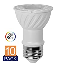 LED Bulbs Daylight PAR16 5000K Dimmable 7.5W 75W Equivalent Spot Lights Glow E26 120V UL-Listed and Energy Star
