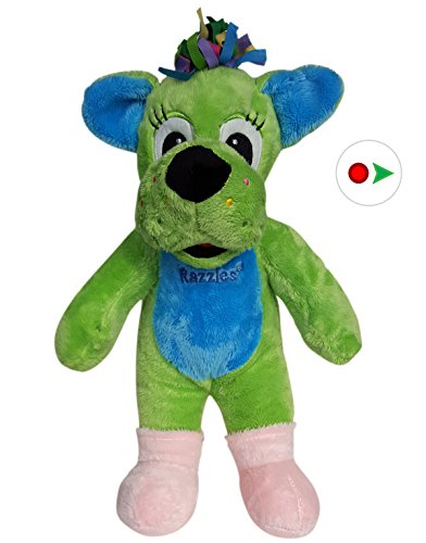Record Your Own Plush 16 inch Green Dog - Ready 2 Love in a Few Easy Steps