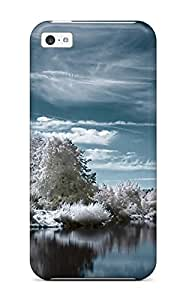 Fashion Tpu Case For Iphone 5c- Winter Lake Defender Case Cover