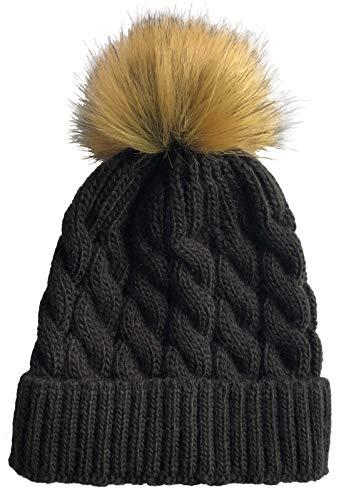 e30a75e15e098 SOFT GRIP Women Cable Knit Slouchy Thick Winter Hat Beanie Pom Pom 1 ...