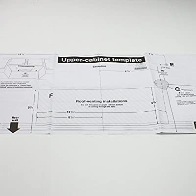 Whirlpool Part Number W10190018 Template Upper