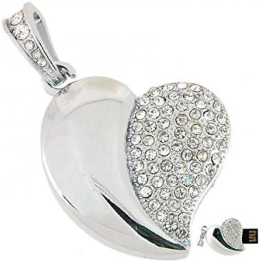 Microware 16 GB Silver Heart Shape Designer Pen Drive Pen Drives