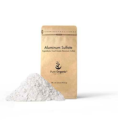 Aluminum Sulfate (1 lb (16 oz)) Pure Dry Alum, Soil acidifier, Hide Tanner, Water treatment, thickener (Also available in 4 oz & 2 (Dry Soils)