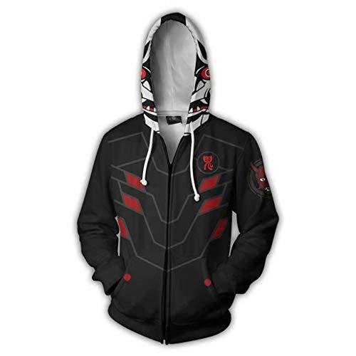 Greed Land Genji Print Black Hoodies Jacket Mercy Cosplay -
