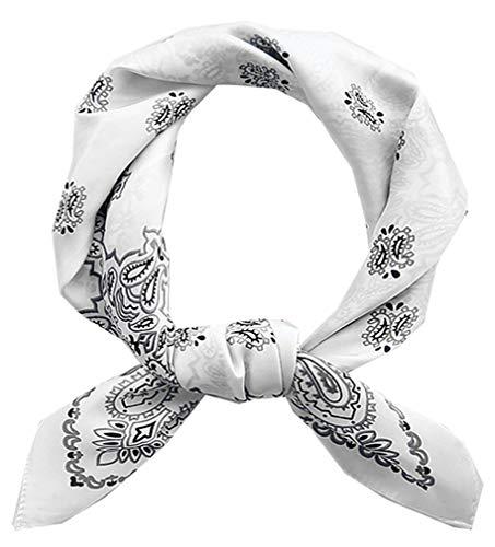 Square Silk Feeling Neckerchief Handbag Hair Scarf Bracelet Gift For Women/Men (FGJ01-M)