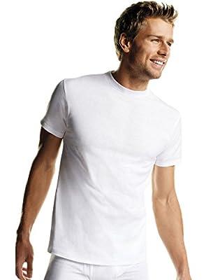 Hanes Mens White TAGLESS & ComfortSoft & Crewneck Undershirt 7-Pack