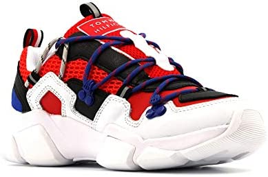 Tommy Hilfiger Chaussures Baskets Basses FW0FW04610 0K5 White Multi Taille 40 Bianco Multi