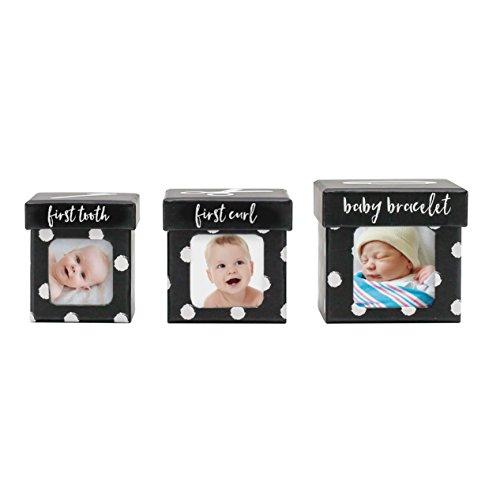 Tiny Ideas Keepsake Boxes, Perfect Nursery Décor and Keepsake Box Set, Black Dots - Dots Keepsake