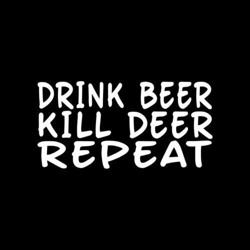 【人気急上昇】 Drink Beer Kill Deer繰り返しビニールデカールウィンドウCarTruck狩猟キャビンRedneck Beer – for Die Cut Vinyl B0125VPR68 Decal for Windows、車、トラック、ツールボックス、ノートパソコン、Macbook – ほぼすべてハード、滑らかな表面 B0125VPR68, 白峰村:0a343f05 --- a0267596.xsph.ru