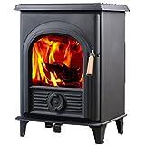 Hi-Flame Shetland HF905U Extra Small Wood Burning Stove,  Black