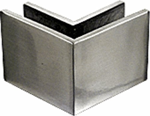 CRL Brushed Stainless Steel 2-1/2 in x 2 in 90 Degree Outside Square Mall Front Clamp