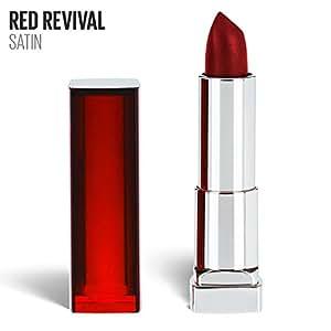 Maybelline New York Color Sensational Red Lipstick, Matte Lipstick, Red Revival, 0.15 oz.