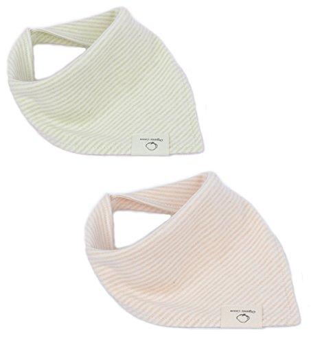 DorDor & GorGor Organic Cotton Toddler Bib, Hypoallergenic & Absorbent, Brown-stripe ()