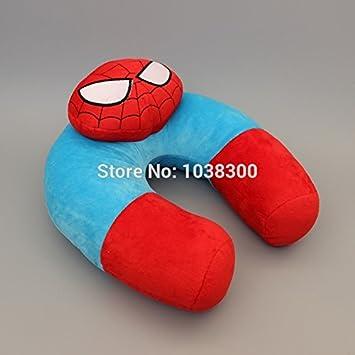 Amazon.com: Spider-Man suave felpa cuello almohada coche de ...