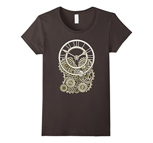Women's Vintage Style Elegant Steampunk Clock T-Shirts Small - Style Vintage Punk