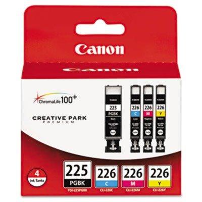 (3 Pack Value Bundle) CNM4530B008AA 4530B008AA (PGI-225, CLI-226) Ink Tanks, 19 mL, 9 mL, CMYK, 4/Pk