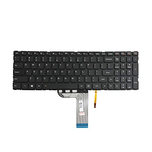 GinTai US Keyboard Replacement for Lenovo IdeaPad 700-15 700-15ISK 700-17 700-17ISK SN20K28280, with Backlight