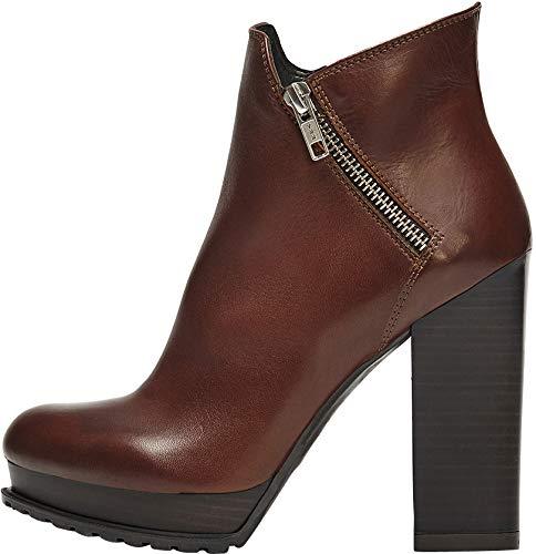 POI Lei - Zapatos de Mujer Plateau Botines Emma Marrón Botines ...