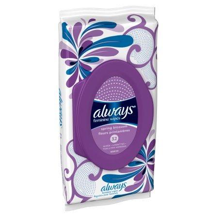 Always Feminine Wipes, Spring Blossom, 32 Wipes (Pack of 2)