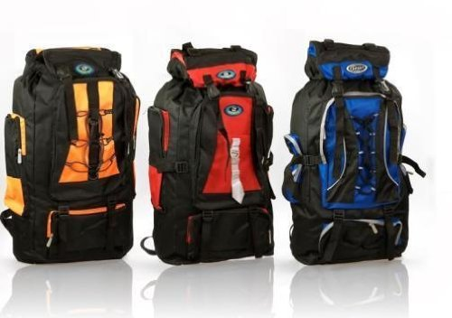 65L Large Versitile Lightwieght Day Backpack Heavy Duty 600D Polyester/Rip Stop NEW (Gray), Outdoor Stuffs