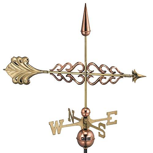 Weathervane Arrow - Good Directions Smithsonian Arrow Weathervane, Pure Copper