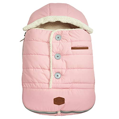 - JJ Cole - Urban Bundleme, Canopy Style Bunting Bag to Protect Baby from Cold and Winter Weather in Car Seats and Strollers, Blush Pink, Infant