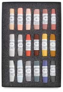 Jack Richeson Unison Pastel Portriat Colors, Set of 18 by Jack Richeson