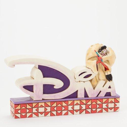 Jim Shore Disney 101 Dalmatians Cruella de Vil Diva Word Plaque Figurine -