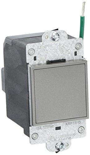Pass & Seymour Outlet (PASS & SEYMOUR ARPTR151GM2 Adorne 1 Gang Magnesium Pop Out Outlet)