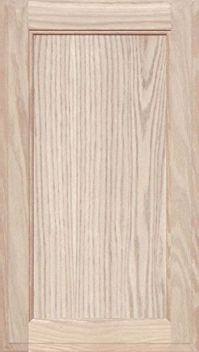 Flat Panel Cabinet Doors - Unfinished Oak Square Flat Panel Cabinet Door by Kendor, 23H x 13W