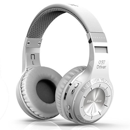 Bluedio Wireless Bluetooth 4.1 Stereo Headphones with Mic (HT Turbine White )