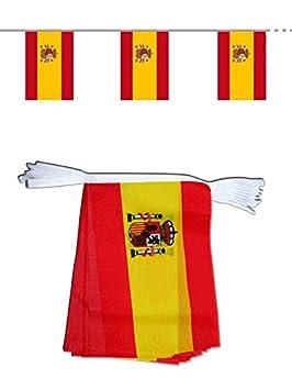 """Grandes banderola """" ESPAÑA """" de 4 metros à 15 banderas tela 14 x"""