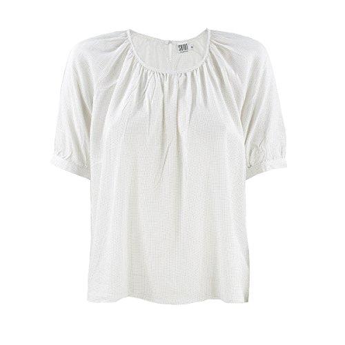 Süßes Blusen-Shirt mit zarten Pünktchen von Saint Tropez in Ice