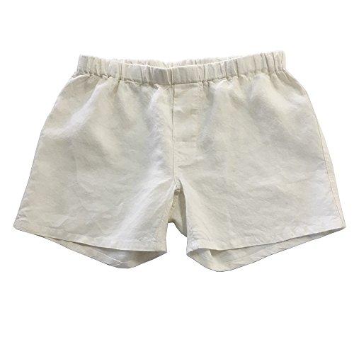 Linoto 100% Linen Boxer Shorts Ivory, ()