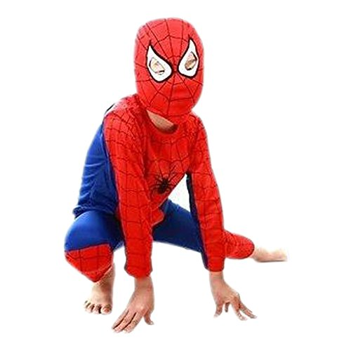 Spiderman Outfit with Mask - Red and Blue (3-4 years old) (Goblin Outfit)