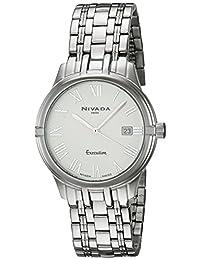 Nivada NP16143MACBR Empower Reloj Cuarzo Análogo, color Blanco/Plata