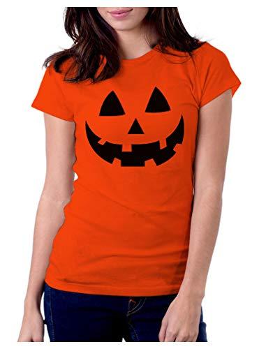 Halloween Pumpkin Shirt for Women Pumpkin Costume Women Jack O' Lantern Shirt Large ()