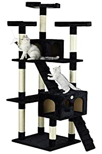 Go Pet Club F2083 72-Inch Cat Tree Condo Furniture, Black