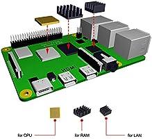 para Pantalla Raspberry Pi 4 con Ventilador, Pantalla táctil resistiva de 3,5 Pulgadas, Funda de acrílico ...