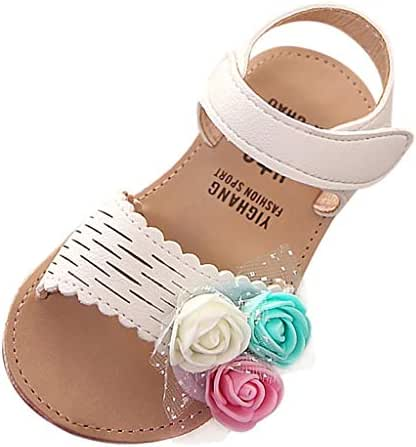 Baby Toddler Girls Summer Sandals Princess Shoes for 1-6 Years Old Kids Child Lovely Cute Flower Beach Sandals