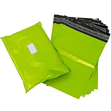 Sticky Self Seal Flap 1, Sample 6x9mm Comtechlogic/® CM-5085 Strong Tough Mailing Bags Poly Plastic Polythene for Postal Postage Packaging Courier Mail Pouch Sacks Premium Quality Neon Green