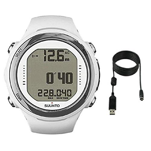 Suunto D4i Novo Dive Watch with USB PC Download Kit, White