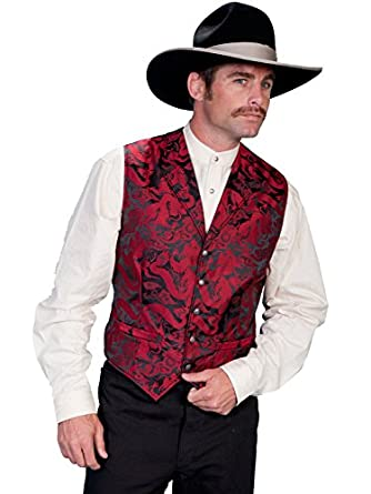 Men's Vintage Vests, Sweater Vests Dragon Pattern Vest $65.00 AT vintagedancer.com